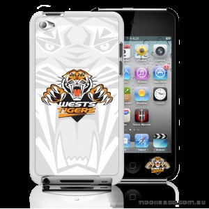 NRL Licensed Wests Tigers Watermark Back Case for iPod Touch 4
