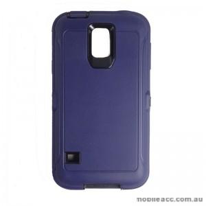 Rugged Defender Heavy Duty Case for Galaxy S5 Blue