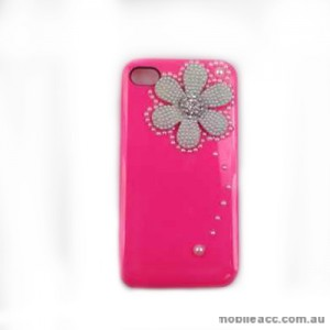 Back Pearl Flower Case Cover for Apple iPhone 4S / 4