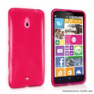 TPU Gel Case Cover for Nokia Lumia 1320 - Hot Pink