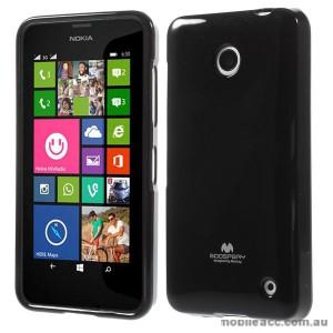 Korean Mercury Pearl TPU Gel Case Cover for Nokia Lumia 630 635 - Black