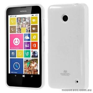 Korean Mercury Pearl TPU Gel Case Cover for Nokia Lumia 630 635 - White