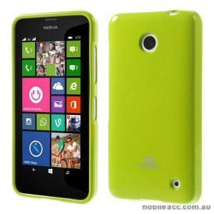 Korean Mercury Pearl TPU Gel Case Cover for Nokia Lumia 630 635 - Green
