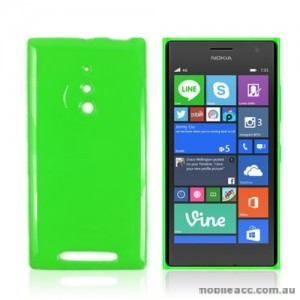 TPU Gel Case Cover for Nokia Lumia 830 - Green