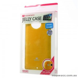 Korean Mercury TPU Gel Case Cover for Nokia Lumia 830 - Yellow