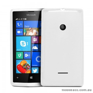 TPU Gel Case Cover for Microsoft Nokia Lumia 435 - White