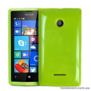 TPU Gel Case Cover for Microsoft Nokia Lumia 435 - Green