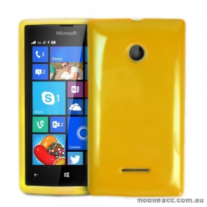 TPU Gel Case Cover for Microsoft Nokia Lumia 435 - Yellow