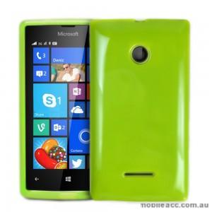 TPU Gel Case Cover for Microsoft Nokia Lumia 532 - Green