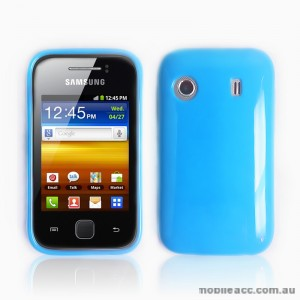 TPU Gel Case for Telstra Samsung Galaxy Y S5360T -Light Blue