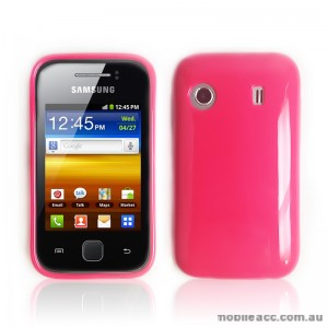 TPU Gel Case for Telstra Samsung Galaxy Y S5360T - Hot Pink