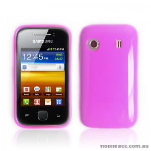 TPU Gel Case for Telstra Samsung Galaxy Y S5360T - Light Pink
