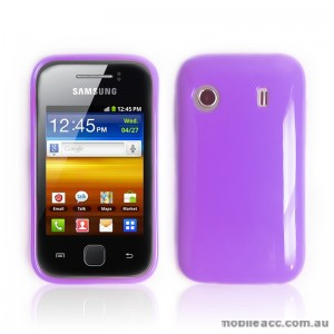 TPU Gel Case for Telstra Samsung Galaxy Y S5360T - Purple