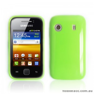 TPU Gel Case for Telstra Samsung Galaxy Y S5360T - Green