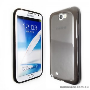 TPU Gel Case for Samsung Galaxy Note2 - Dark Grey