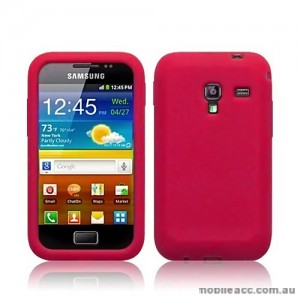 TPU Gel Case for Samsung Galaxy Ace Plus S7500 - Hot Pink