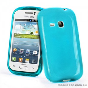 TPU Gel Case for Samsung Galaxy Young S6310 - Blue