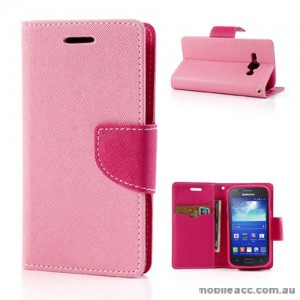 Samsung Galaxy Ace 3 Wallet Case - Light Pink