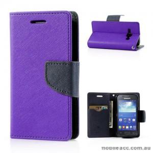 Samsung Galaxy Ace 3 Wallet Case - Purple