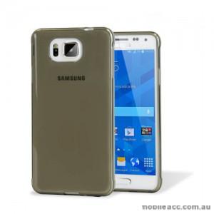 TPU Gel Case Cover for Samsung Galaxy Alpha - Dark Grey