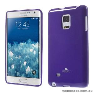 Korean Mercury TPU Gel Case Cover for Samsung Galaxy Note Edge - Purple