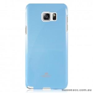 Korean Mercury TPU Gel Case Cover for Samsung Galaxy Note 5 Light Blue