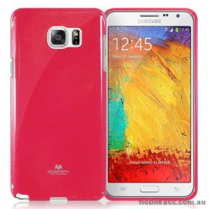Mercury Pearl Jelly Case for Samsung Galaxy A8 Hot Pink