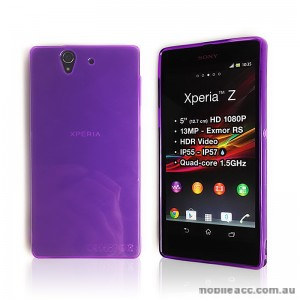 TPU Gel Case for Sony Xperia Z L36h - Purple