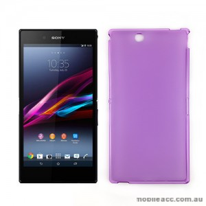 TPU Gel Case Cover for Sony Xperia Z Ultra - Purple