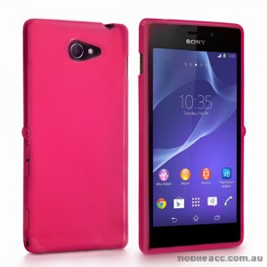 TPU Gel Case Cover for Sony Xperia M2 - Hot Pink