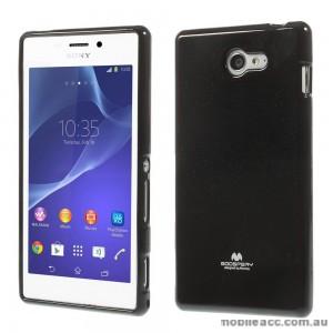 Mercury Pearl TPU Gel Case Cover for Sony Xperia M2 - Black