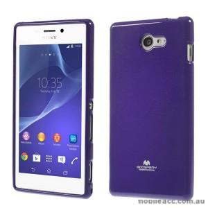 Korean Mercury Pearl TPU Case Cover for Sony Xperia M2 - Purple