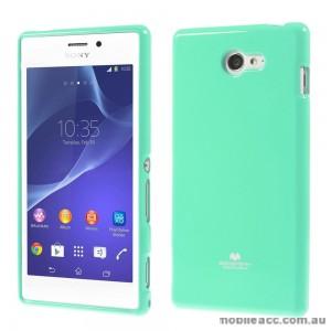 Mercury Pearl TPU Gel Case Cover for Sony Xperia M2 - Green