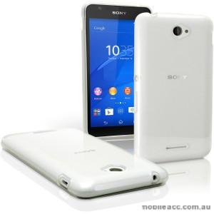 TPU Gel Case Cover for Sony Xperia E4 - White