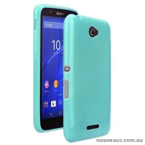 TPU Gel Case Cover for Sony Xperia E4 - Cyan