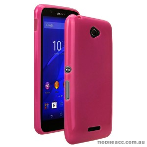 TPU Gel Case Cover for Sony Xperia E4 - Hot Pink