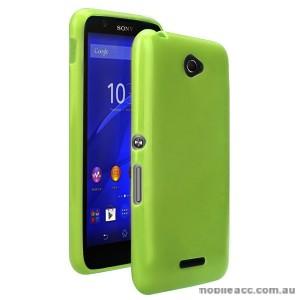 TPU Gel Case Cover for Sony Xperia E4 - Bean Green