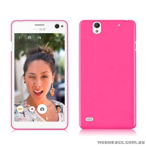 TPU Gel Case Cover for Sony Xperia C4 Hot Pink