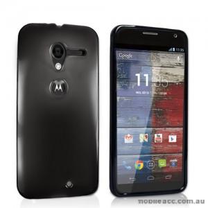 TPU Gel Case Cover for Motorola Moto X - Smoke Black