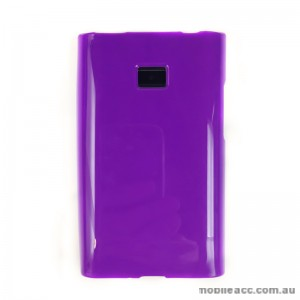 Soft TPU Gel Case for LG Optimus L3 E400 - Purple