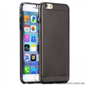 TPU Gel Case Cover for iPhone 6/6S - Transparent Black