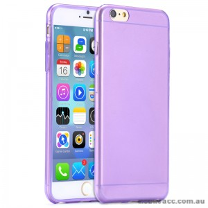 TPU Gel Case Cover for iPhone 6/6S - Transparent Purple