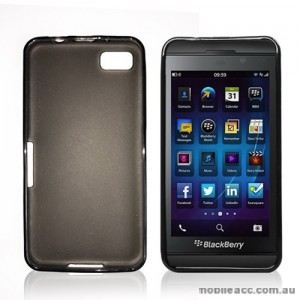 TPU Gel Case Cover for Blackberry Z10 - Dark Grey