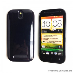 TPU Gel Case Cover for HTC One SV - Black