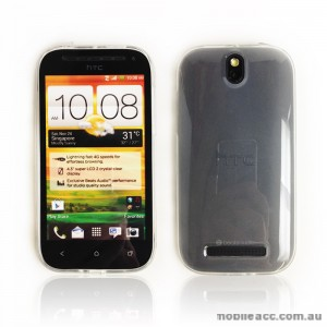 TPU Gel Case with S Curve for HTC One SV - Black