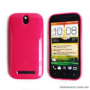 TPU Gel Case for HTC One SV - Hot Pink