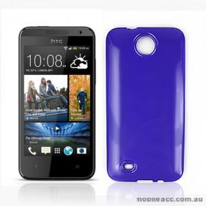 TPU Gel Case Cover for HTC Desire 300 - Purple