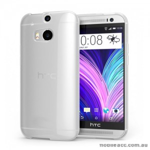 TPU Gel Case Cover for HTC One M8 - Clear