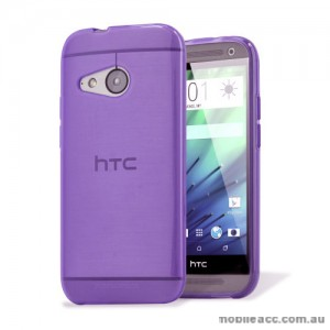 TPU Gel Case Cover for HTC One Mini 2 (M8) - Purple