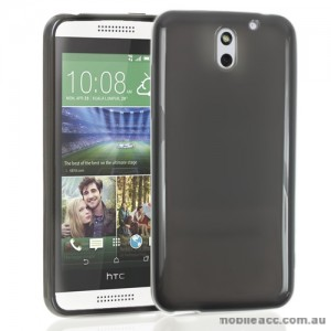 HTC Desire 610 TPU Gel Case Cover - Smoke Black